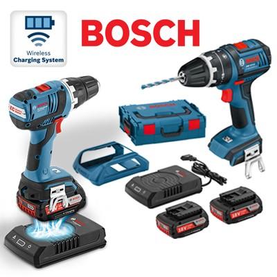 bosch gsb18vliw wireless charging combi 18v cordless. Black Bedroom Furniture Sets. Home Design Ideas