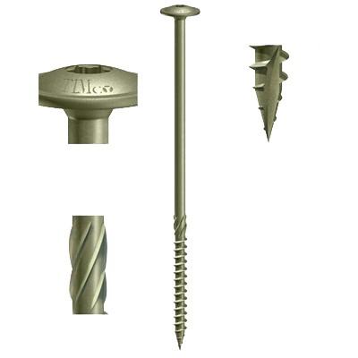 Timber Sleeper Wafer Head Index TIMco In-Dex Screws Landscaping//External