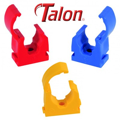 Talon Nail On Pipe Clips Each Blue /& Red 15mm /& 22mm